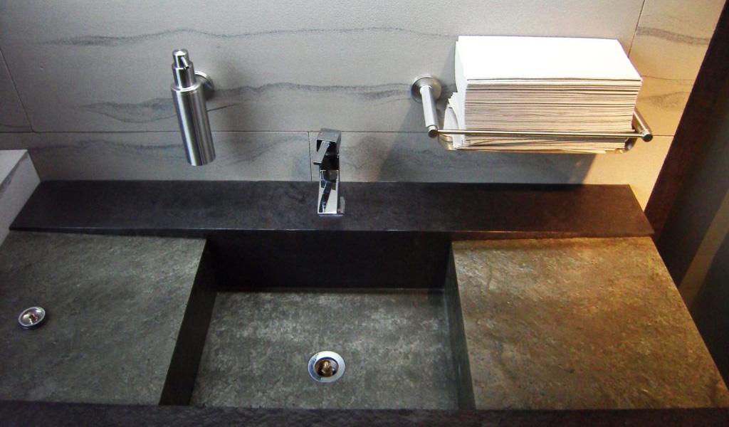 Stone Veneer Bathroom