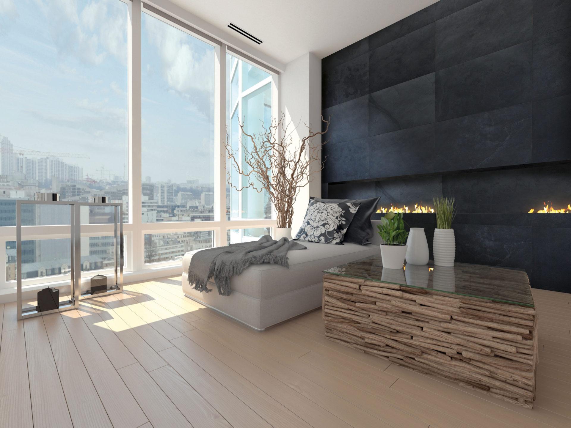 Stone Veneer Living Space