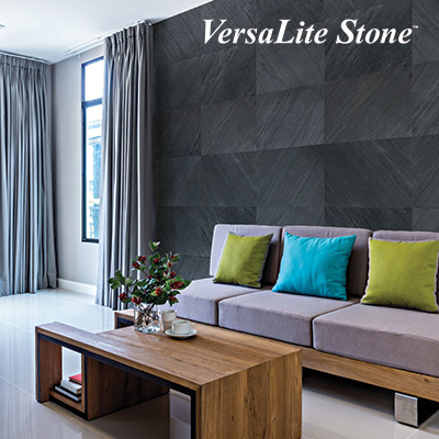 Picture of Living Room with VersaLite Stone Veneer on Wall